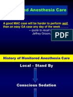 Monitored Anesthesia Care Notes Jag2007