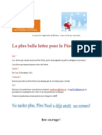 Lettre Pere Noel Concours