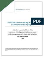 XYZbank Job Satisfaction