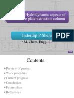 Progress on Axial Dispersion in Pulse Sieve Plate Column