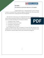 Bank Internship Report