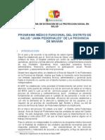 PROGRAMA MÉDICO FUNCIONAL DEL AREA DE SALUD DE PEDERNALES
