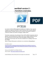 Les Fonctions Et Scripts Avancees Sous Power Shell Version 2