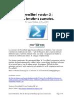 Les Fonctions Et Scripts Avancees Sous Power Shell Version 2