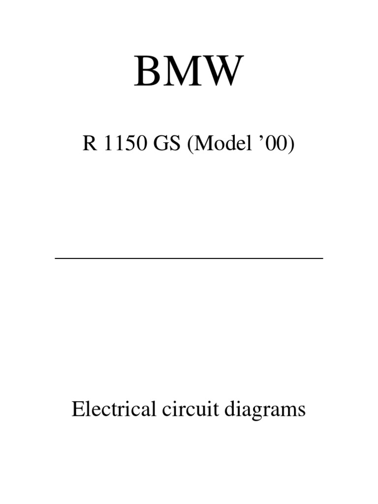 R1150gs Wiring Diagrams