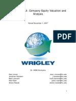 Wrigley Analysis