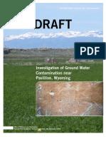 Draft EPA Report on Pavillion, Wyoming, fracturing, Dec 8 2011