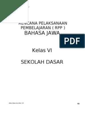 Rpp Bahasa Jawa Kelas 6