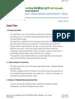Japanese Rapid Filter