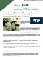 5.- Crean Trituradoras de PET Caseras