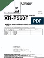 XR-P560_RRV1626 Service Manual
