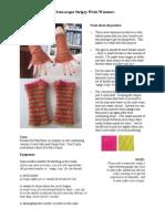 Dr Seussesque Wrist Warmers Knitting Pattern