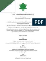 Civil Díj - Az eddig díjazottak
