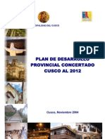 Municipal Id Ad Del Cusco Plan Provincial