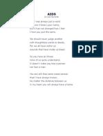 AIDS poem 1