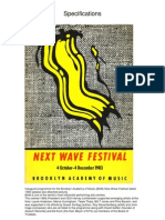 Next Wave Festival Programme Brooklyn Academy of Music 1983