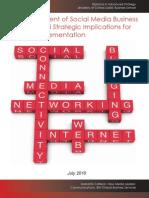 Jeanette Carlsson an Assessment of Social Media Models