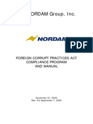 Nordam Fcpa Compliance Program And Manual Due Diligence