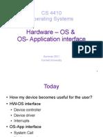 HW OS Interface