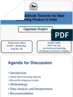 Presentation-customer attitude towards the male grooming product in india