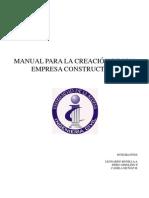 Manual Para La Creacion de Una Sociedad Constructor A