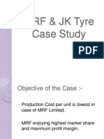 MRF & JK Tyre Case Study