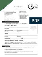 E15 2011 Application Form 16-07 Web