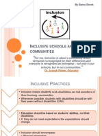 Inclusive Schools and Communities Presentation