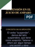SUSPENSIÓN EN EL JUICIO DE AMPARO