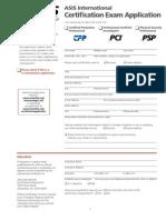 Application - ASIS International Certification Exam
