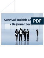 Survival Turkish Lessons - Beginner Level