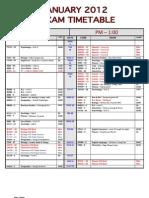 ECS Jan 2012 - Exam Timetable