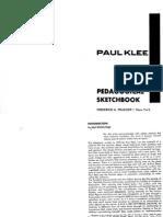 Paul Klee Pedagogical Sketch Book