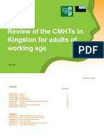 Review of the CMHTs in Kingston for Adults of Working Age