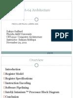 IA-64 Architecture Presentation