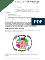 Training Evaluation process