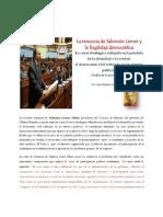 La renuncia de Salomón Lerner y la fragilidad democrática ( analisis politico de la renuncia)