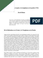 Hume, David - De la delicadeza en el gusto y la templanza en la pasión