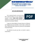 ACTA DE DEPURACIÓN