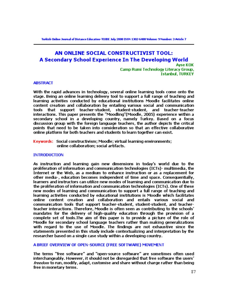 Constructivism: a selection of sites