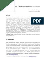 ORGANIZAÇÃO SINDICAL X ORGANIZAÇÃO DE SERVIÇOS