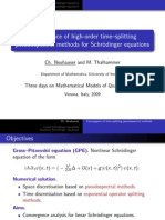 Ch. Neuhauser and M. Thalhammer- Convergence of high-order time–splitting pseudospectral methods for Schrödinger equations