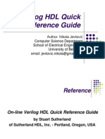 Verilog HDL Quick Reference Guide New