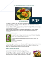 Como Preparar Deliciosas Receitas Com Flores
