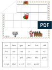 December Sight Word Bingo