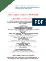 10 Maneras de Acelerar Tu Windows XP