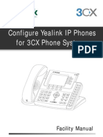 Configure Yealink Phones for 3CX Phone System