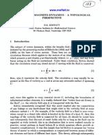 H.K. Moffatt- Vortex and Magneto-Dynamics