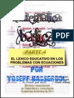 Organización de la Matemática Básica Parte 4 Contextualizando El Lenguaje de Las Ecuaciones