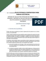 OPTIMIZACIÓN DE POTENCIA CONTRATADA PARA TARIFAS ELECTRICAS